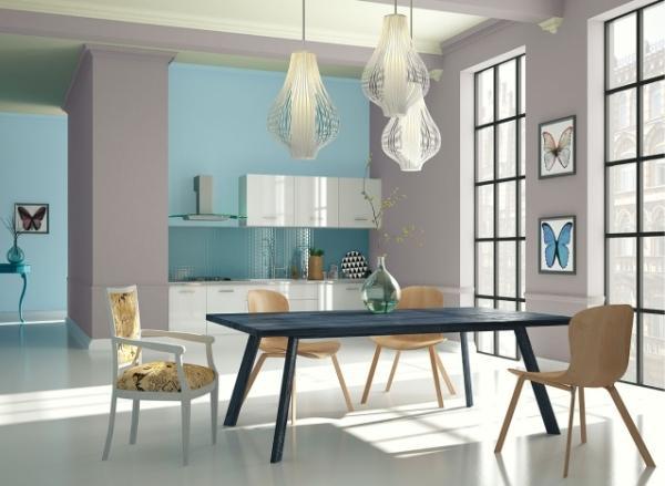 Aranżacja kuchni w pastelowych kolorach - Powrót pasteli